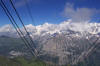 View of the Alps from the cable car