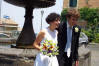 Carlotta and Bill, in front of Santa Maria in Vivario Church