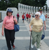 Mary with her parents, Mary and Jerry, at the WWII Memorial