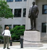 At Uncle H.H.'s Statue at WKU