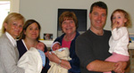 The Twins at 17 Days: Christine, Marion, Mary, Brian, and Lucie