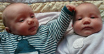 Nicholas Lewis and James Gustav Riggs, born September 24, 2009