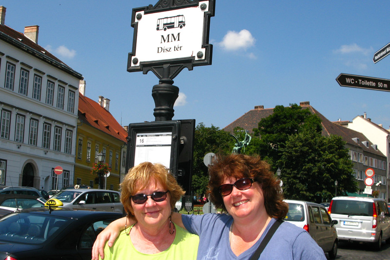 Mary and Jenny in Buda's Castle District