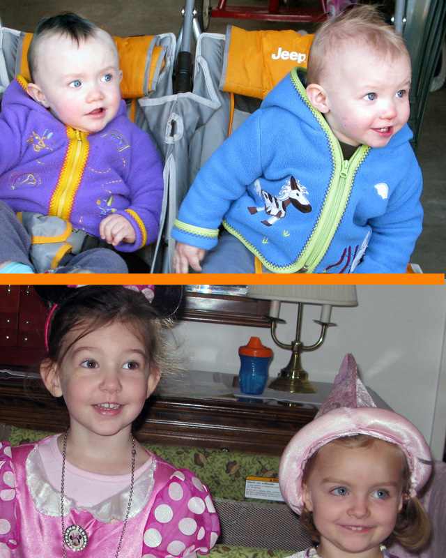 Princes Nicky and Jamie and Princesses Tori and Lucie