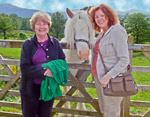 Mary and Teresa with Friend at Ashness Farm near Keswick