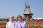 In Front of the DeZwaan Windmill in Holland, Michigan