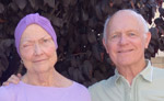 August Photo of Us; Mary's Eye Has Had 5 Days of Radiation and Would Soon Open