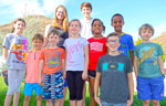 Cousins: (l to r) Tori, Dax, Nicky, McLean, Lucie, Hudson, Simone, Crew, Justice, and Jamie
